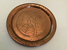 More details for antique solid copper johnnie walker whiskey tray pub man cave