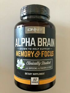 ONNIT Alpha Brain Supplement - MEMORY & FOCUS | Clinically Studied | 90 Capsules
