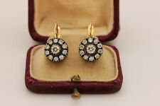 PERFECT OUR DESIGN 14K GOLD DIAMOND RUSSIAN STYLE STRONG EARRING