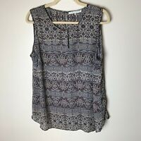 Violet & Claire Women's Sleeveless Top Size 1X Casual Work Career Business Blue