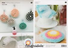 RICO 600 CREATIVE BUBBLE SCRUBBIE/SPONGE CIRCLE ORIGINAL CROCHET PATTERN
