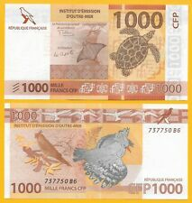 French Pacific Territories 1000 Francs p-6(2) 2014 new signature Unc Banknote