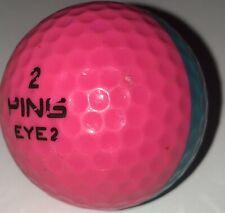 1 Vintage Two Tone Ping Eye 2 Karsten Pink Teal Aqua Golf Ball (D-4-2)