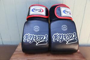 Fairtex Made in Thailand Muay Thai Boxing Gloves Open Thumb SZ L 8oz