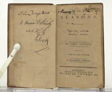 The Seasons James Thomson 1807 Leather Poetry Samuel Johnson Autumn Winter Book