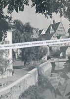 Bietigheim - Enz-Partie mit Rathaus - um 1955          H 7-1