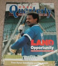 Chicago Cubs Quarterly Baseball Magazine June-July 1991