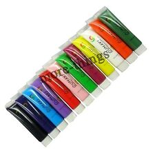 12 Color 12ml 3D Paints Tube Drawing Acrylic Nail Art UV Gel Set For Makeup Tips