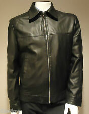 NWT Hugo Boss Black Label Lamb Nappa Leather Jacket 42R(US) 52(EU) or L