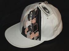 Oakley Auténticas con Etiqueta Rombos Béisbol Flex Gorra S/M Blanco