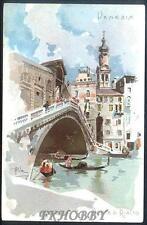 CPA Italia Venice Venezia Pont di Rialto Bridge Brücke Pont Most i3