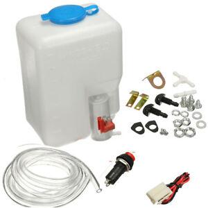 12V 1.8L General Purpose Windshield Washer Tank Pump Bottle Set Hose Nozzle Set