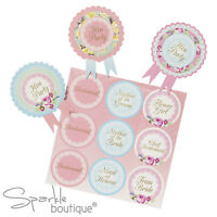 Classy Hen Night/Party BADGES -Shabby Chic/Vintage Style Floral Guest Rosettes