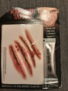 Pirate Tattoos Wound Bloody Scab Kit for Halloween Costume Fun World