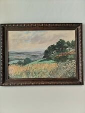 Antique Oil Painting Framed Signed And Dated