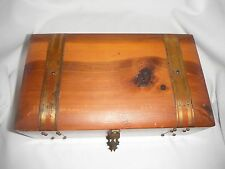 antique/vintage wooden make-up box dove tail with accessories