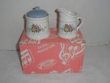 "San Francisco Music Box Company Sugar Dish & Creamer "" Spoonful Of Sugar"""