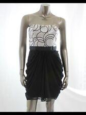 Mattox Draped Skirt Sequin Top Strapless Evening Cocktail Dress Sz.0