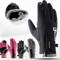 Ski Anti-slip Windproof Waterproof Touch Screen Gloves Winter Warm Mittens