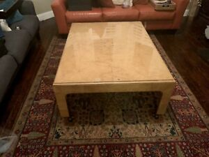 Henredon Scene Two Burlwood Coffee Table