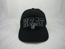 Miami Heat Black Embroidered Adjustable Hat '47 Brand NBA Cap