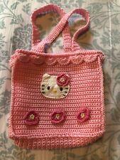 "Licensed Sanrio Japan Hello Kitty Rare Crocheted 8"" Pink Handbag"