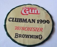 SPORTING GUN CLUBMAN 1990 WINCHESTER BROWNING  CLOTH PATCH  --HUNTING SHOOTING