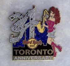 HARD ROCK CAFE TORONTO 34TH ANNIVERSARY SEXY GIRL PLAYING SAXOPHONE PIN # 67558