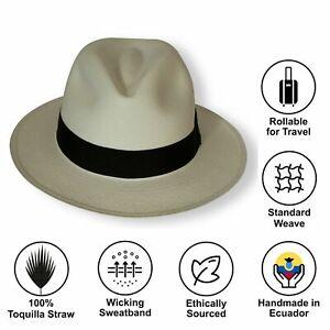 Handmade Fairly Traded Genuine Panama Hat from Ecuador - Hand Woven - Rolling