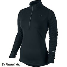 Nike Element Women's Half Zip Long Sleeve Pullover Running Shirt XS Black New