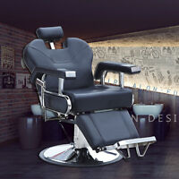 Hydraulic Recline Barber Shop Chairs Salon&Spa Equipment Styling Stations Black