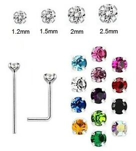 1x CLAW Nose Stud 925 Silver - 0.6mm Thin BEND YOURSELF - 1.2mm 1.5mm 2mm 2.5mm