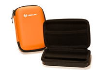 Orange Portable Hard Drive Case Bag Holder Water Shock Resistant - Lifetime Warr