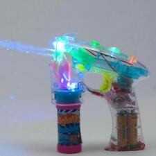 LED Light Up Bubble Blower Gun with Flashing Lights Squirt Party Favor Shooter