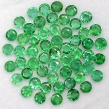 Wholesale Lot 3.5mm Round Facet Natural Zambian Emerald Loose Calibrated Gems