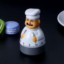 Cartoon Chef Timer Cooking Mechanical Alarm Sleep Reminder Clocks Kitchen Supply