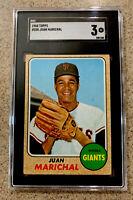 1968 Topps #205 Juan Marichal San Francisco Giants HOF SGC 3 VG