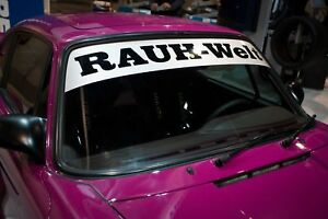 Sticker RAUH Welt for  Porsche sticker RWB RAUH-Welt decal Aufkleber Windshield