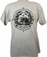 Koloa Surf Company Short Sleeve Gray Top Kauai Hawaii T-shirt Crab Design Medium