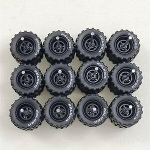 HOT WHEELS OFFROAD Falken RUBBER WHEELS TIRES 6 SETS 1/64 BLACK 14mm FORD RAPTOR