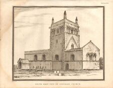 1806  ANTIQUE PRINT - ARCHITECTURE- SOUTH EAST VIEW OK STEWKLEY CHURCH