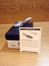 2005 Just The Right Shoe Stepping Out Figurine Kaleidoscope 25548 Coa Box