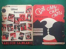 (D48) SPARTITO MUSICALE OHILI' OHILE' OHILA' Mazurca paesana Carisch (1939)