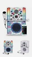 🔥Karaoke Bluetooth System Singing Machine Microphone Kids LED Display USB CD+G