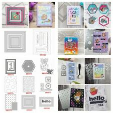 Frame Words Cutting Dies Metal Stencil for DIY Scrapbooking Paper Cards Craft