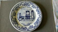 1 ASSIETTE PUBLICITAIRE - SANITAIRE PORCHER 100 ans cabinet de toilette - GIEN