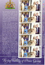 Alderney-Prince George Ist Birthday-new issue 2014-Royal Family-full sheet