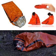 Camping Thermal Sleeping Bag Emergency Survival Hiking Blanket Gear Kit Outdoor