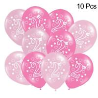 10x Balloons Baby Happy 2nd Birthday Balloon Party Festive Room Decoration Props