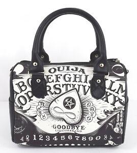 Liquorbrand Ouija Board II Occult Horror Goth Round Purse Handbag Nu-Goth